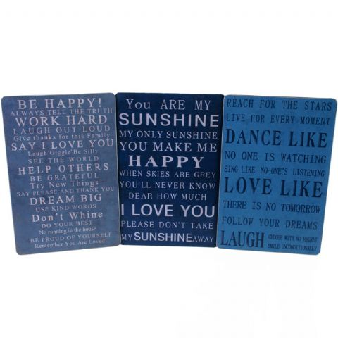 Sentimental Signs - Metal Wall Word Art Plaques